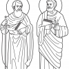 Picture to colour in of SS Peter & Paul
